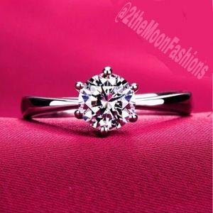 Penelope 1.2CT Sona Diamond 18K White Gold Ring
